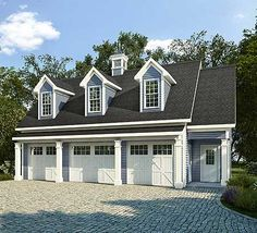 Image Result For 3 Bay Garage Side Porch Carriage House Plans Garage Apartment Plans