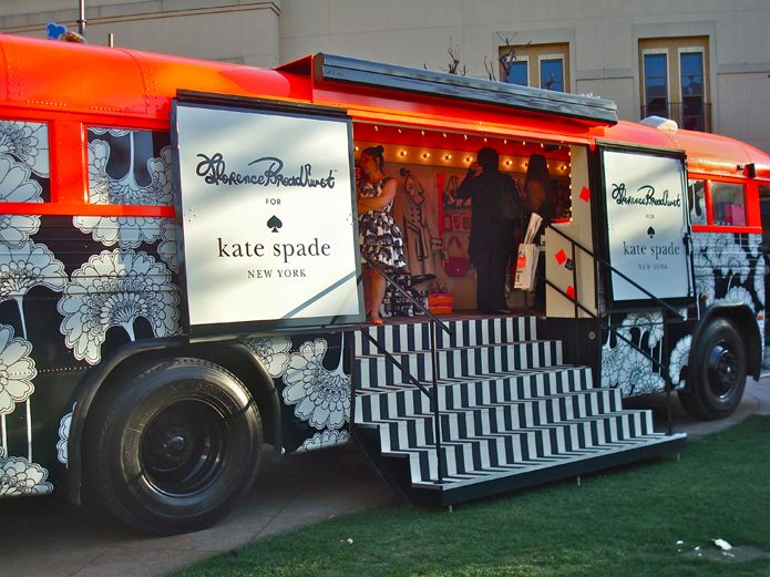 Kate Spade and florence Broadhurst pop-up bus: http://www.trulydeeply.com.au/madly/2014/06/20/how-pop-ups-are-helping-brands-create-experiences-for-consumers/ #brandspaces #branding #pop-up