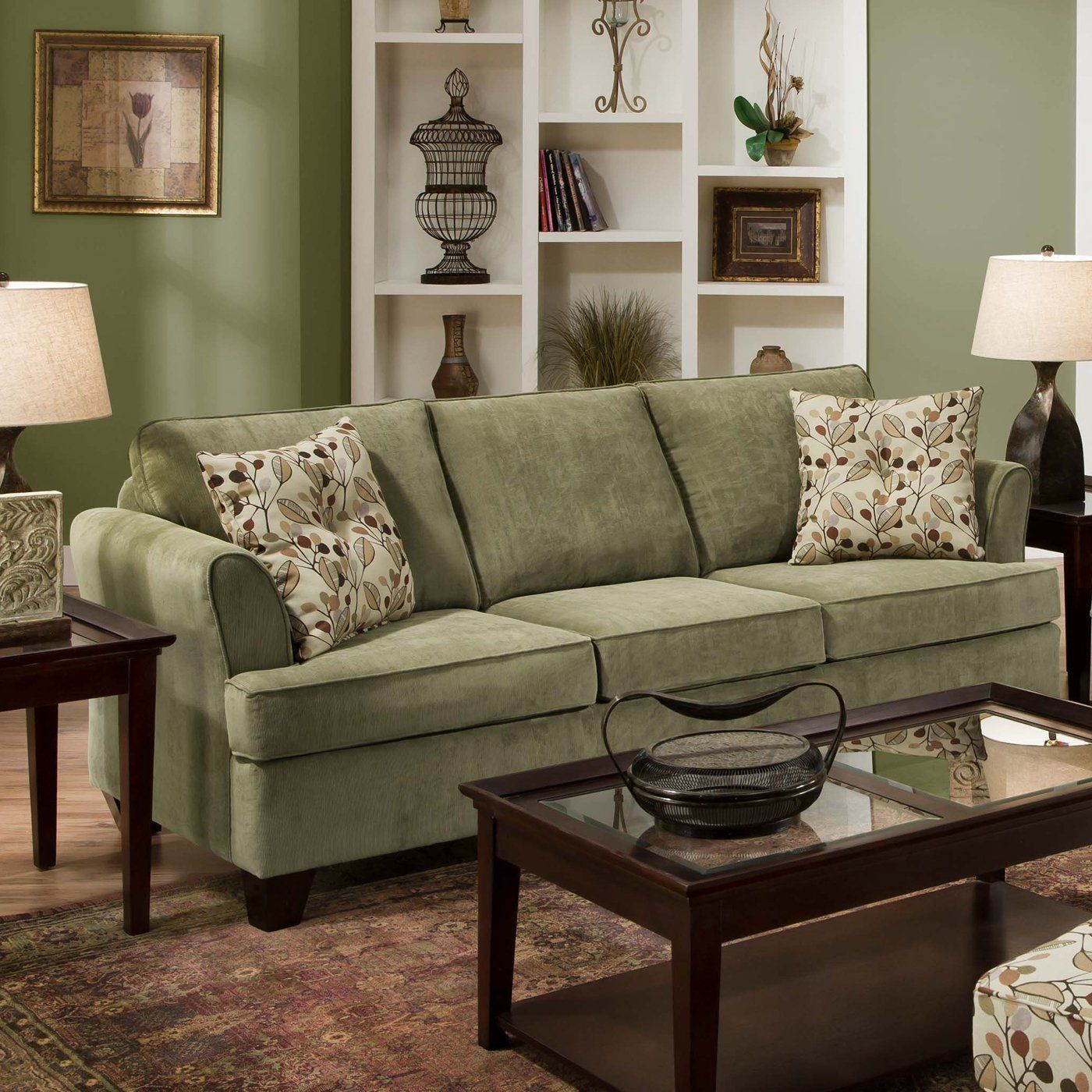Thistle green sofa Color lines Thistle green