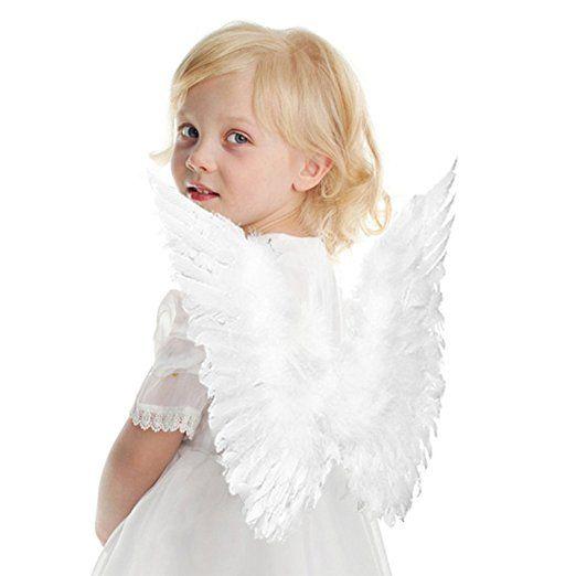 hengsong engelsfl gel karneval kost m feder fl gel f r kinder 45 35 cm wei kost m m dchen. Black Bedroom Furniture Sets. Home Design Ideas