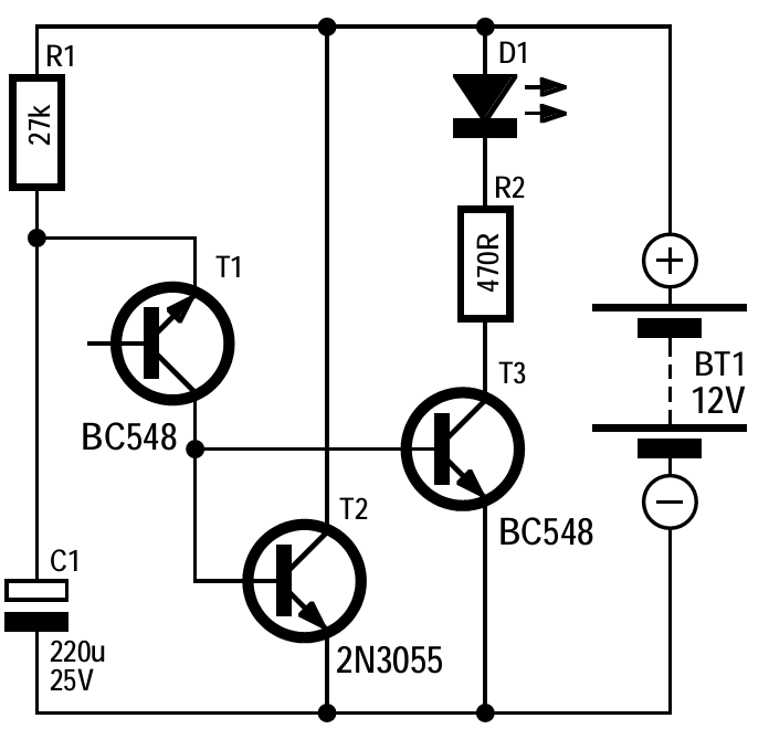 Simple Battery Maintainer Circuit Diagram