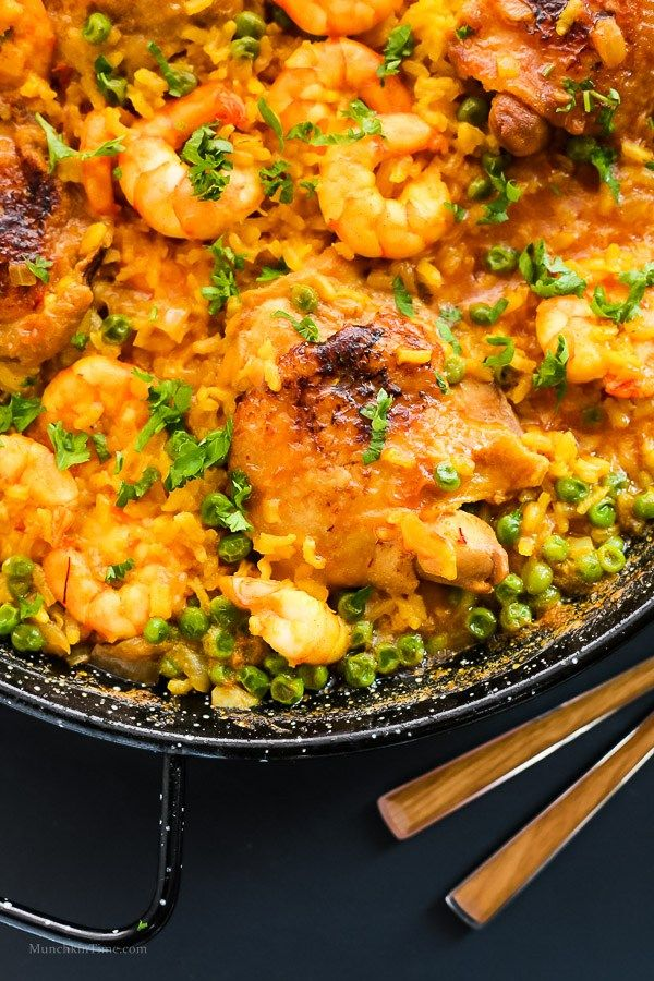 Chicken Thighs And Shrimp Paella Recipe By Love Keil Www