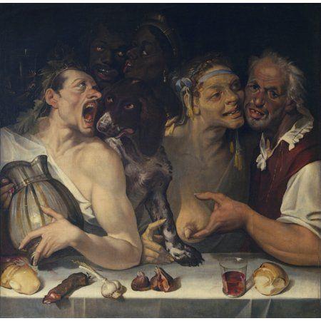 Happy Company (Allegra Compagnia) Canvas Art - (24 x 18)