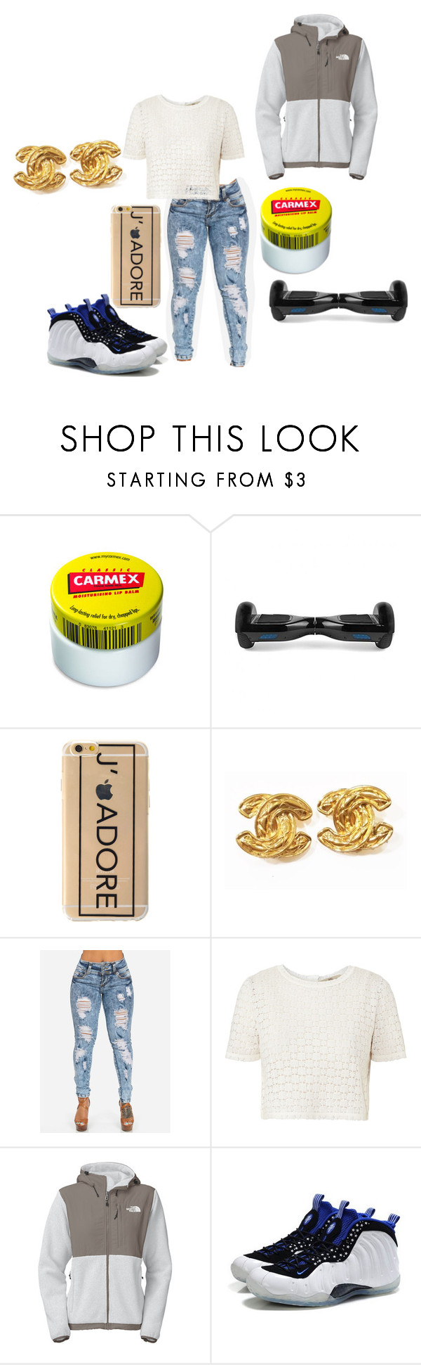 """what is your problem"" by ari-11 ❤ liked on Polyvore featuring Carmex, Chanel, Orla Kiely, The North Face and NIKE"