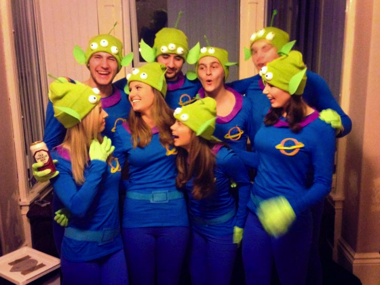 Space themed fancy dress ideas fabulous womens deluxe classic toga elegant disney pixar fancy dress group team costumes toy story little green aliens the claw diy homemade with space themed fancy dress ideas solutioingenieria Images