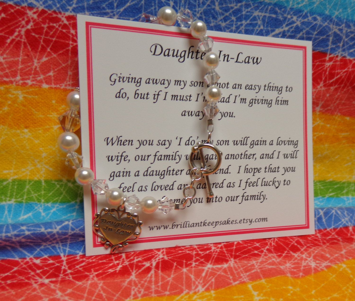 Future daughter in law wedding gift bracelet by