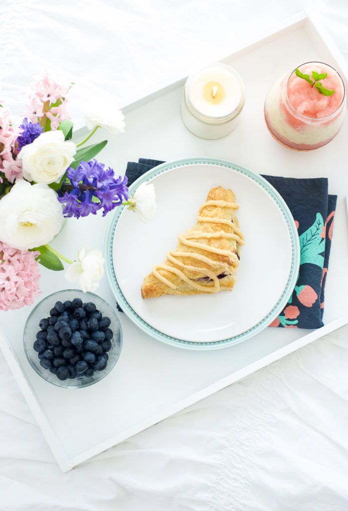 Blueberry Cherry Turnovers with Brown Butter Icing   Oh So Delicioso