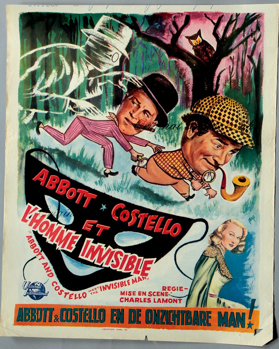 Abbott And Costello Meet The Invisible Man Abbott And Costello Meet The Invisible Man 1951 Slasher Film Creature Feature Abbott And Costello