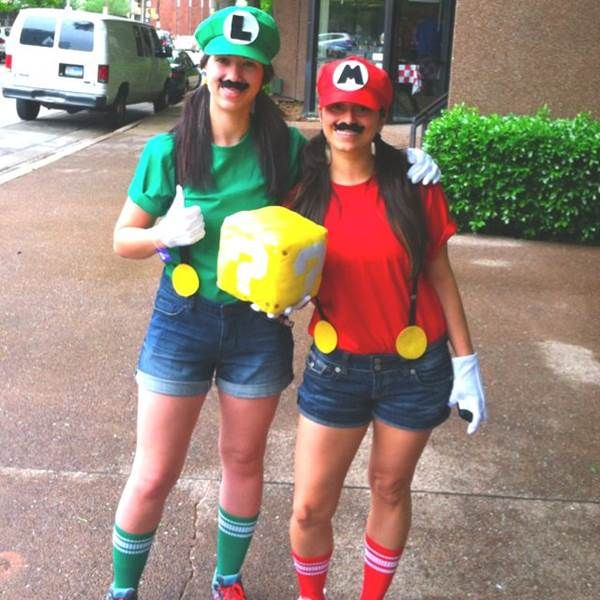 20 Halloween Ideas For You And Your Best Friend Cute Halloween Costumes Halloween Costumes Friends Mario And Luigi Costume