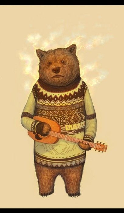 c5a325a94 Hipster Bear | Living 90% of my life covered in paint | Bear ...