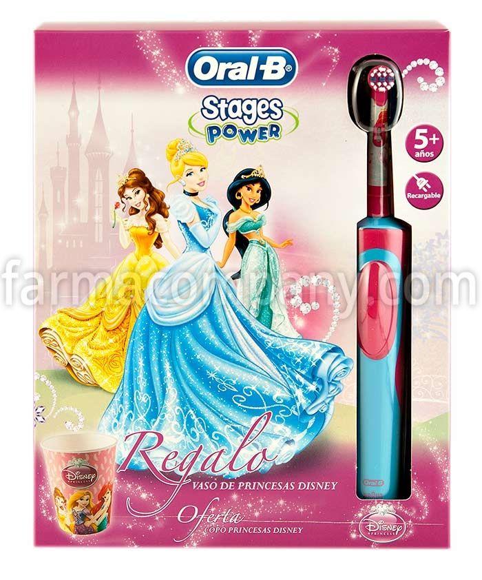 Oral-B Cepillo Dental Eléctrico Infantil Pack Vitality Stages Princesas Disney. Con vaso de regalo en Farmacompany.com