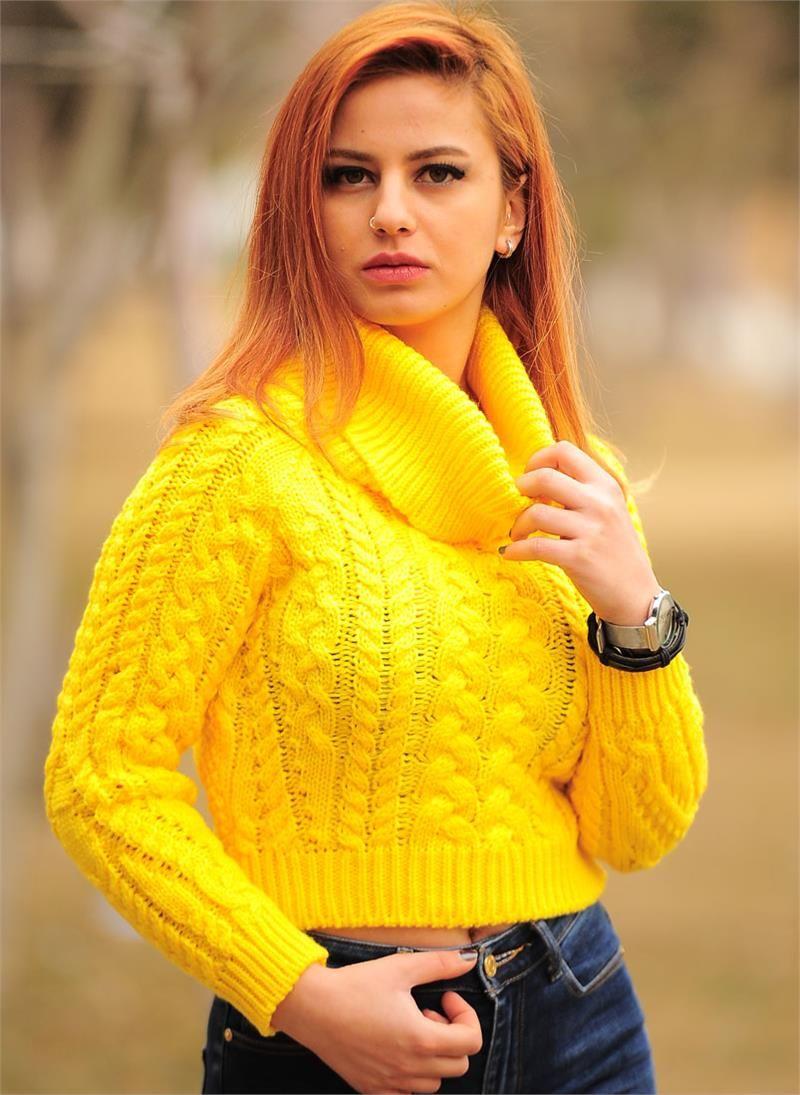 Bayan Boaÿazla Kazak Sara Modelleri Ve Uygun Fiyat Avantaja Yla Modabenle Bogazli Kazak Moda Kadin Giyim
