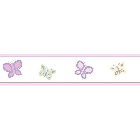 Sweet Jojo Designs Butterfly Wallpaper Border In Pink Purple Buybuy Baby Butterfly Wallpaper Border Butterfly Wallpaper Jojo Designs