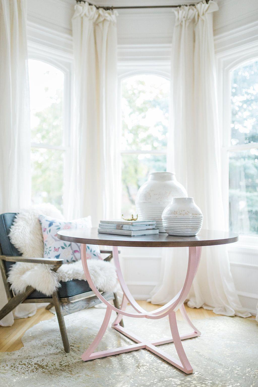 Modern Parisian Living Room Reveal: Wainscoting, Paint, Lighting ...