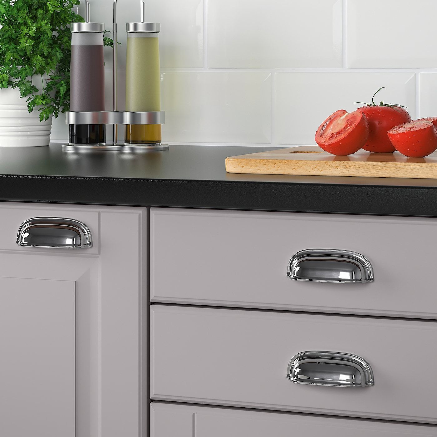 Eneryda Komgreep Verchroomd 89 Mm Ikea Cup Handles Kitchen Kitchen Door Handles Cup Handles