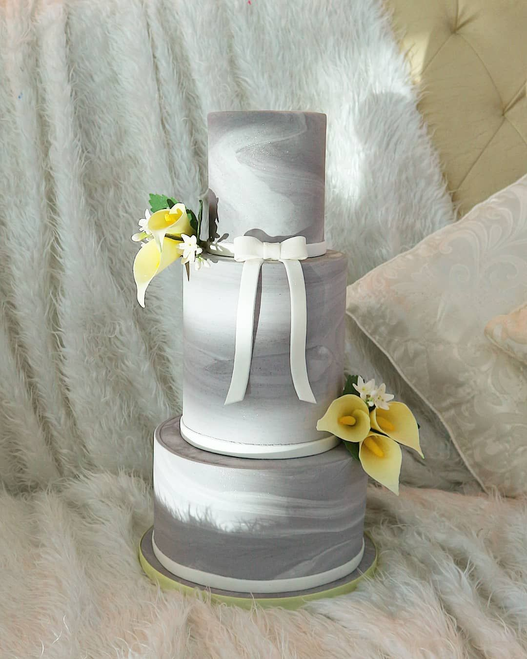 Lovely gray gray grey marble design style bow