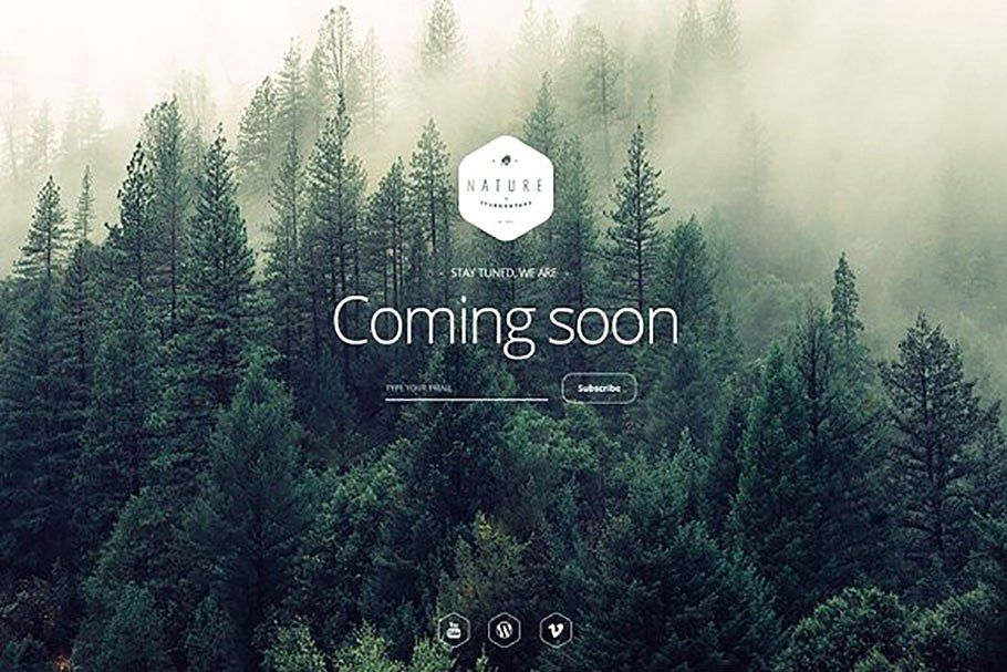 2simple Nature Coming Soon Template Social Icons Templates Social Media Icons