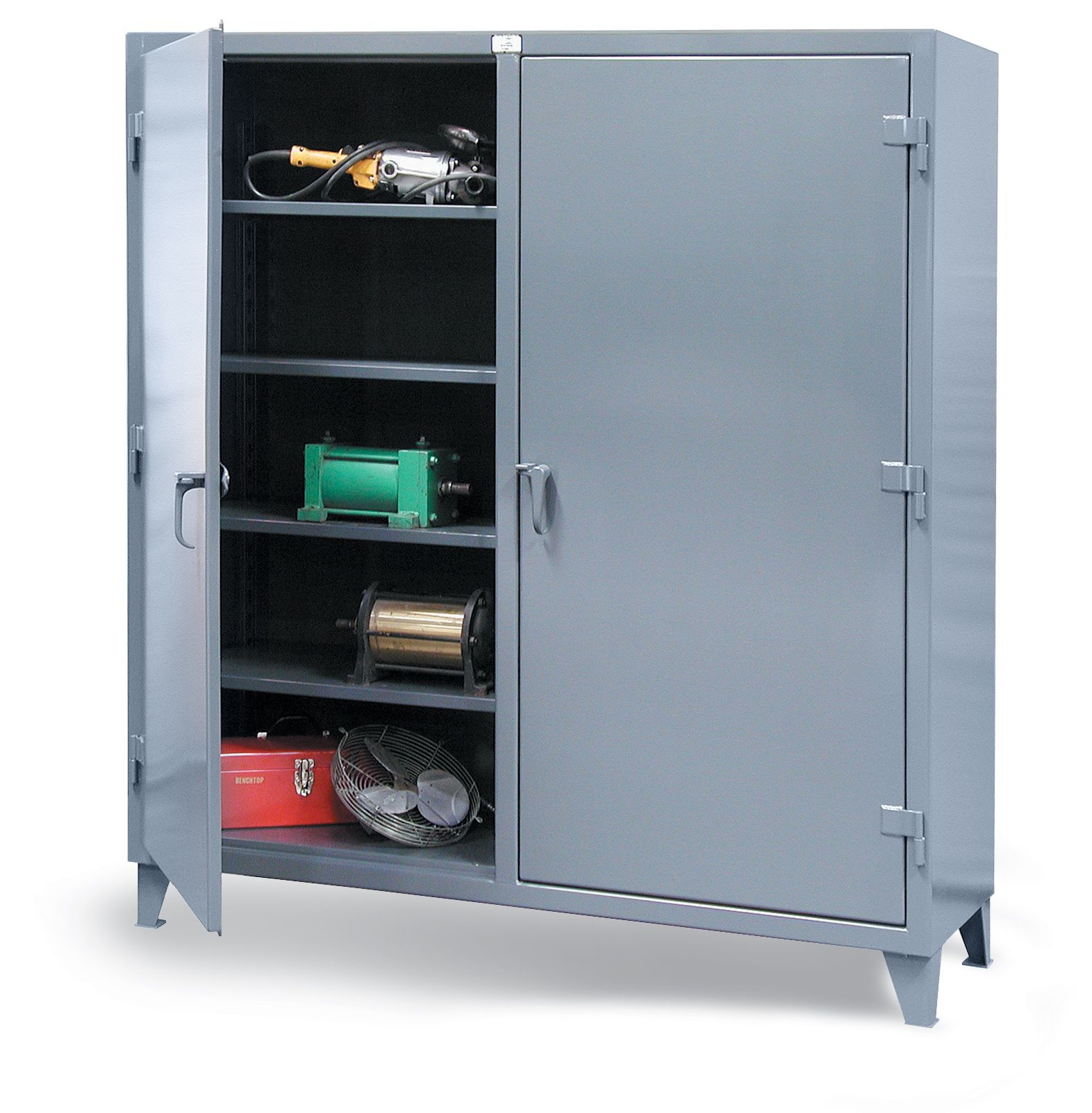 Storage Cabinet With Locking Doors Double Shift Cabinet Our Heavy Duty 12 Gauge Double Shift
