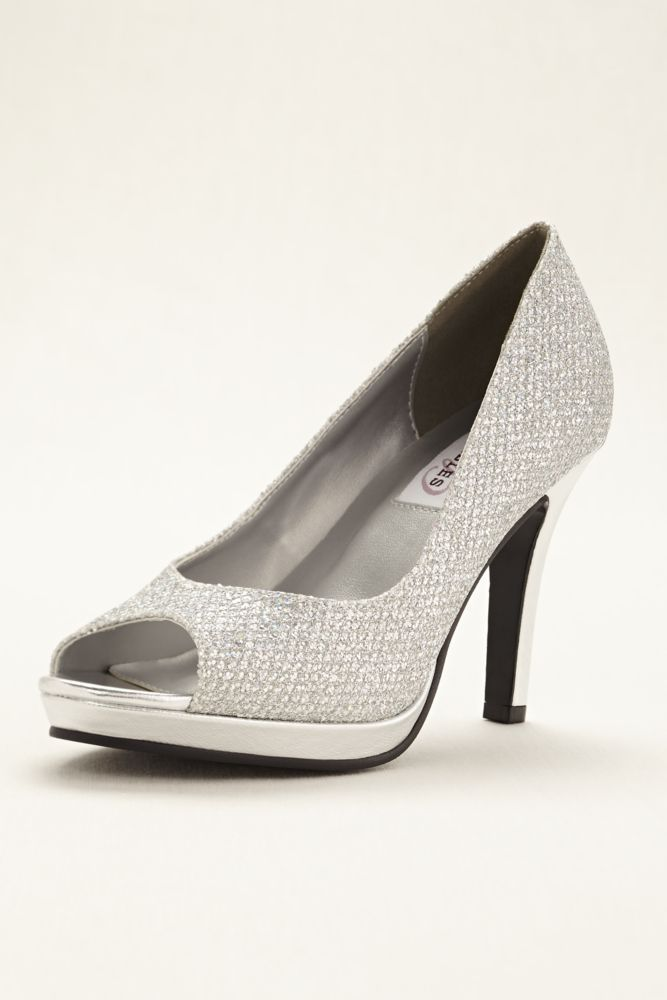 23b962f3fbe Glitter Sari Wedding   Bridesmaid Platform Pump - Silver