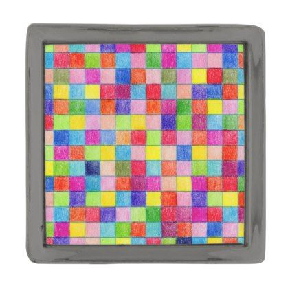 Colored In Graph Paper Squares Gunmetal Finish Lapel Pin - pattern - graph paper sample