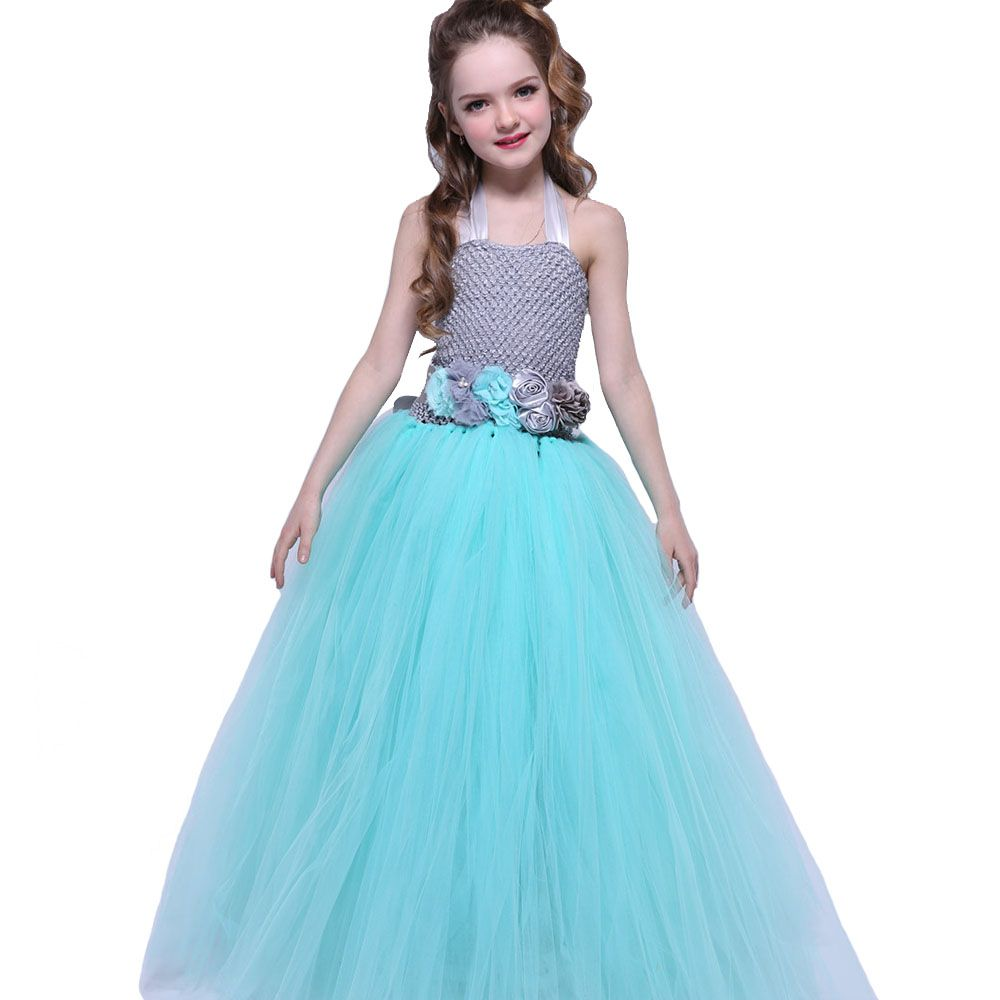 Girl Party Tutu Dress With Floral Sashes For Birthday Boutique ...