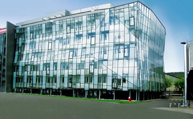 Stick System Curtain Wall Aluminum And Glass Fw 50 Schuco