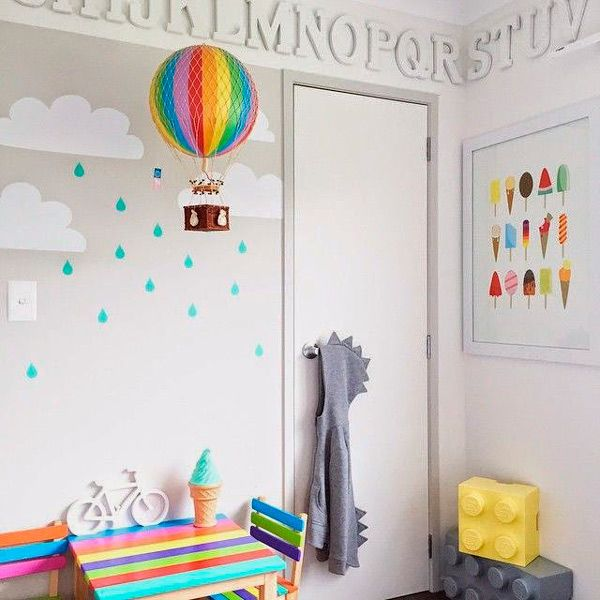 5 ideas para pintar la pared de las habitaciones - Paredes habitaciones infantiles ...