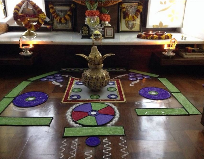 Pooja Room Designs And Decor For Gudi Padwa Rangoli Designs Room And Decoration
