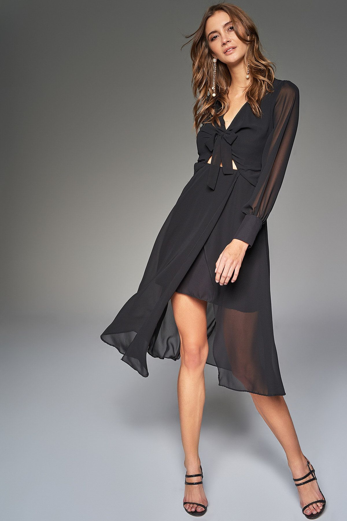 Siyah Bel Dekolteli Elbise Trendyolmilla Trendyol Elbise The Dress Moda Stilleri