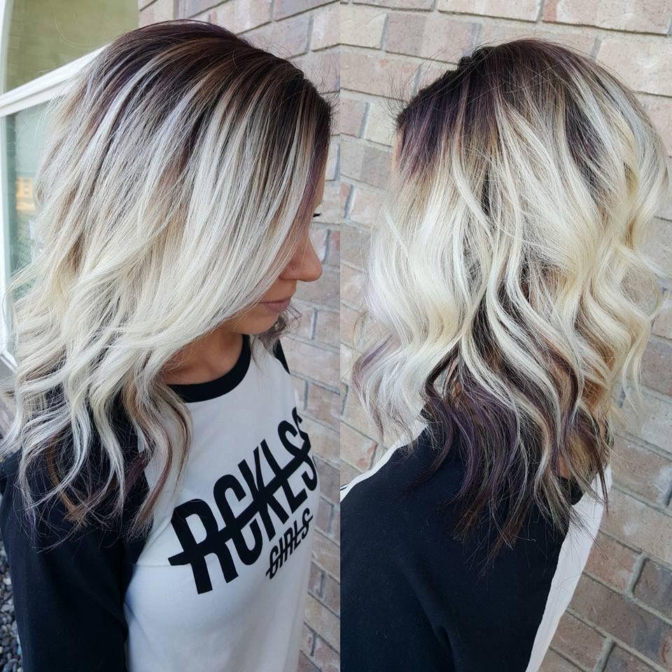 Everyday Hair Fashion Melt Platinum Blonde Violet Curls Blonde Mom Pretty Blonde Hair Hair Styles Platinum Blonde Hair