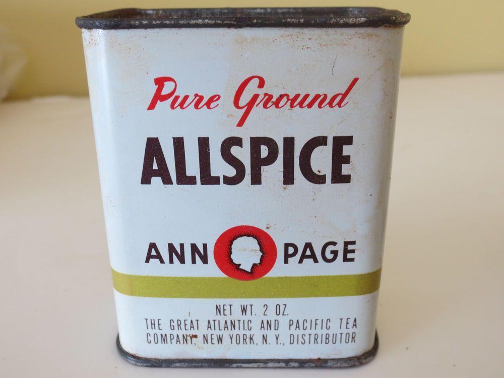 labels vintage allspice