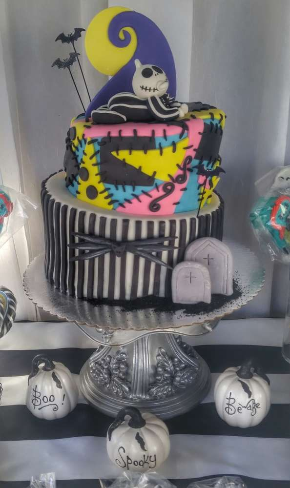 Great Cool Cake At A Nightmare Before Christmas Baby Shower Party! See More Party  Planning Ideas