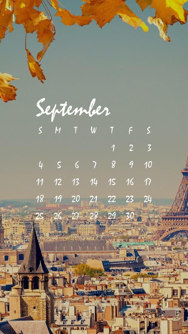 Wallpaper IPhone Calendar September 2016