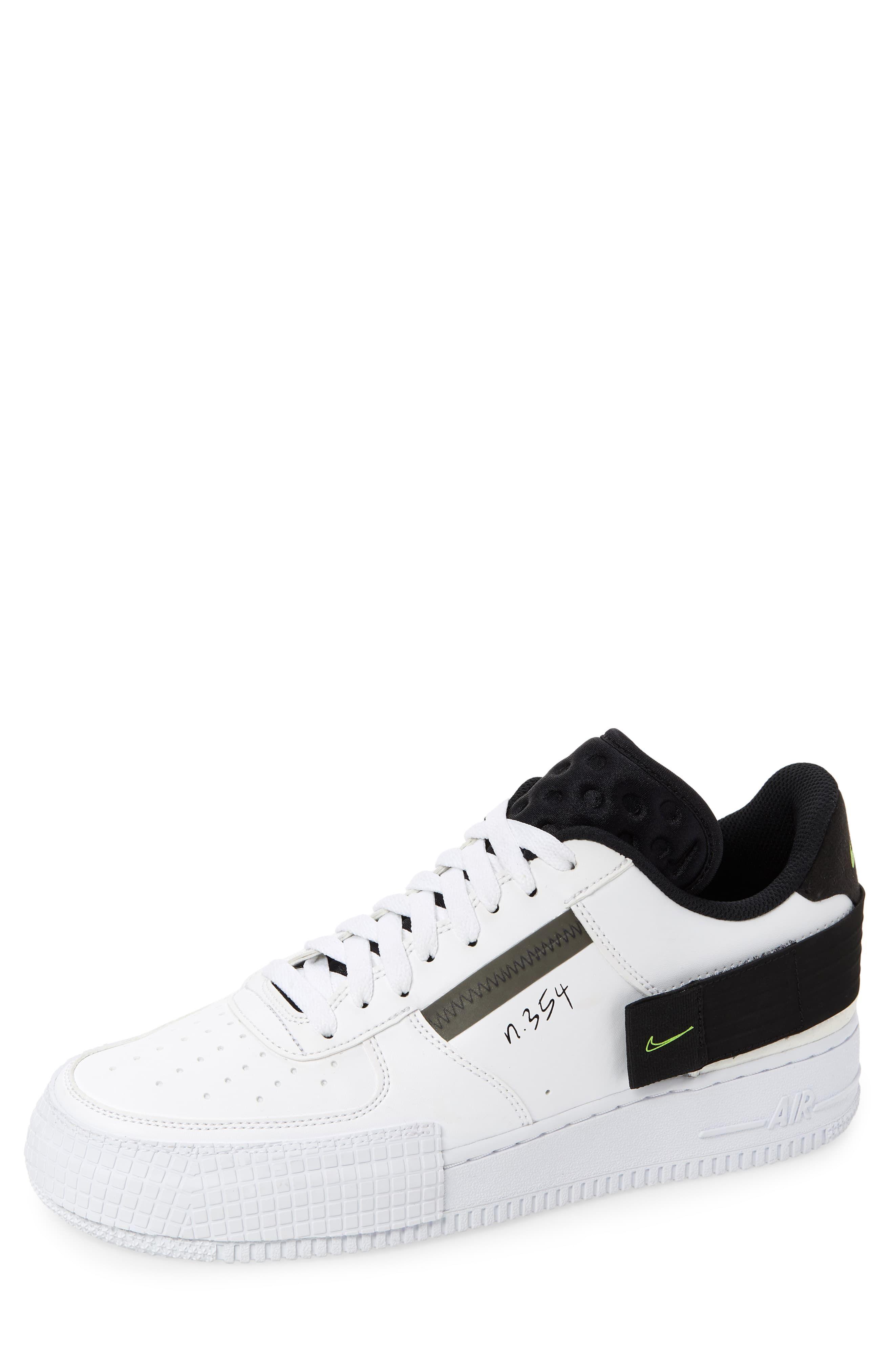 Men's Nike Air Force 1 Low Type Sneaker, Size 7.5 M Black