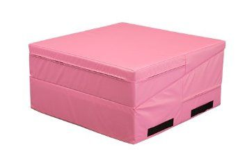 Amazon Com We Sell Mats Gymnastics Non Folding Incline Cheese Wedge Skill Shape Tumbling Mat Pink 33 Long X 24 Tumble Mats Gymnastics Equipment Gymnastics