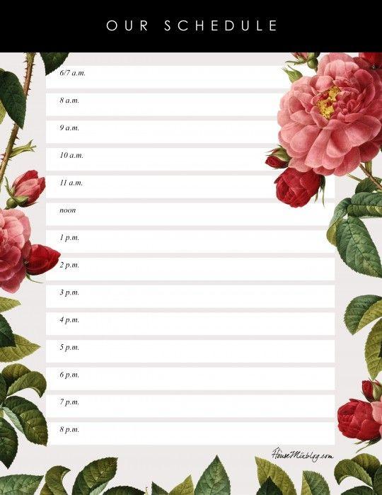 Pretty Printable Daily Kids Schedule Daily Schedule Kids Kids