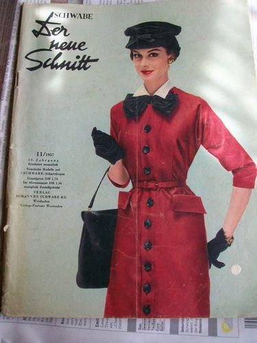 Mode Zeitschrift Schwabe Der neue Schnitt 11 1957 mit Schnittmuster ...