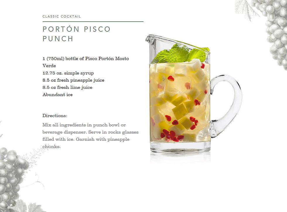 piscoporton | Recipe PORTÓN PISCO PUNCH