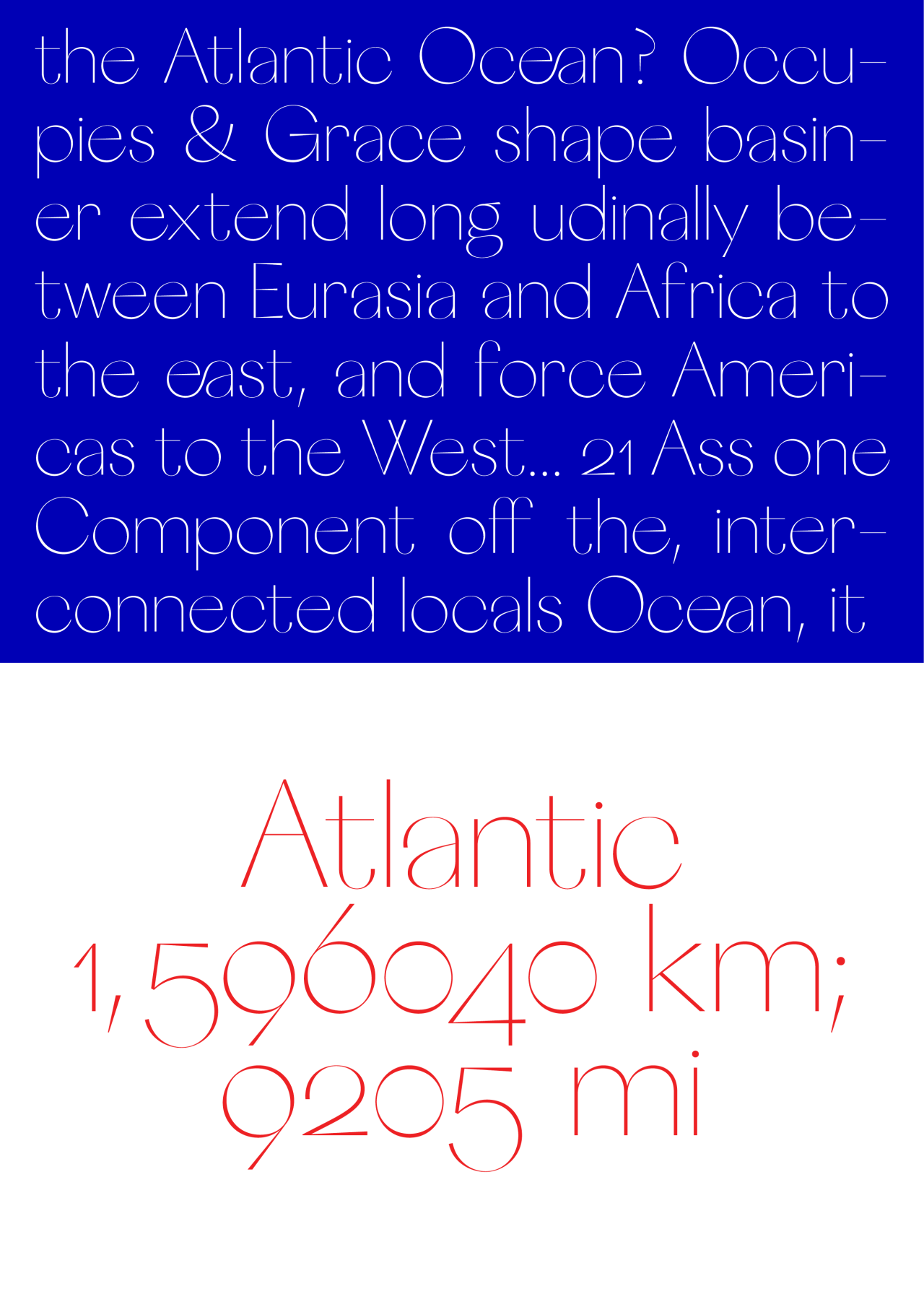 Atlantic Heavyweight  Just My Type    Typography Typo