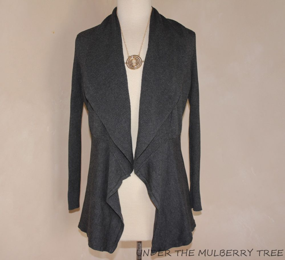 Details about WHITE HOUSE BLACK MARKET S Open Front Cardigan ...