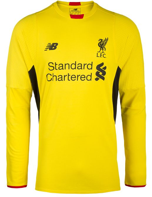 Yellow Liverpool Goalkeeper Kit 15 16 | Liverpool Jersey