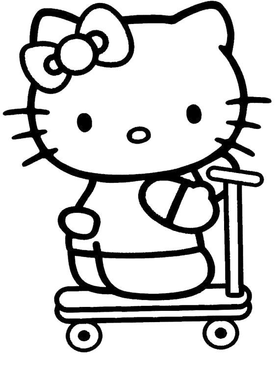 I Have Download Hello Kitty Wearing Scooters Coloring Page Hello Kitty Coloring Hello Kitty Colouring Pages Kitty Coloring