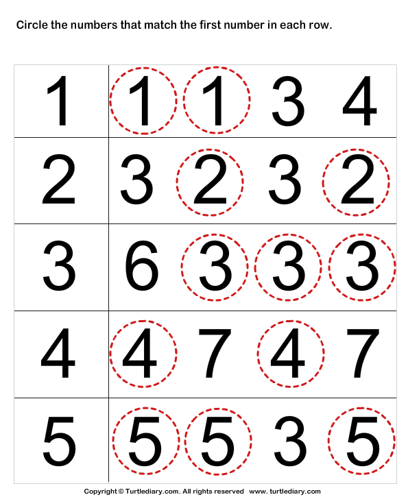 Match Numbers Worksheet Preschool Math Numbers Preschool Learning Numbers