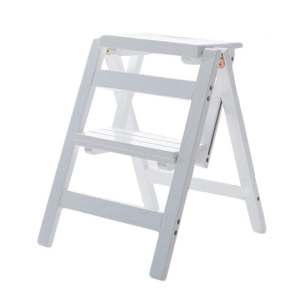 Tremendous Lxla Solid Wood Folding 2 Steps Stool For Kids Adult Lamtechconsult Wood Chair Design Ideas Lamtechconsultcom