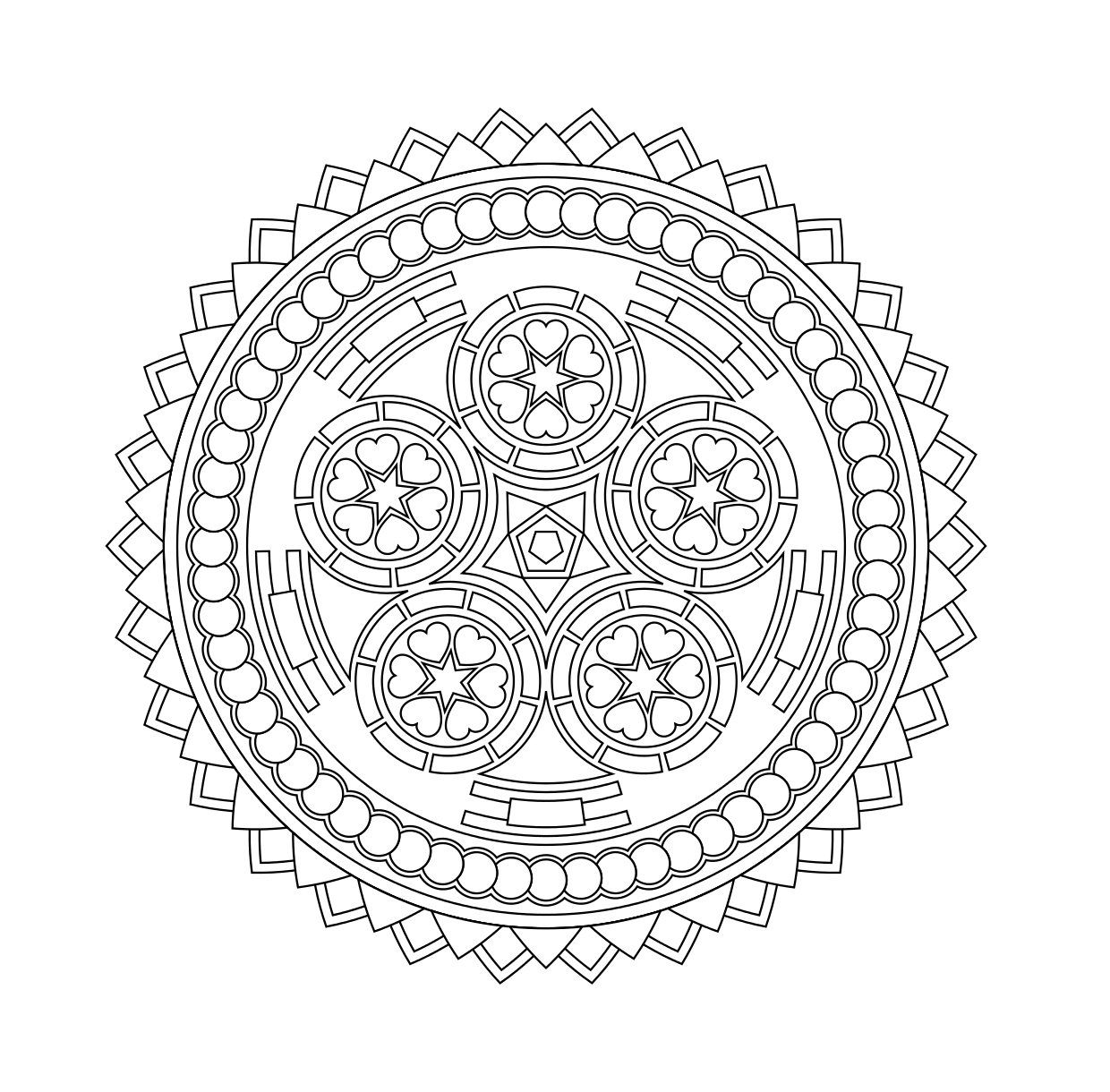 Coloring pages for stress relief - 29 Printable Mandala Abstract Colouring Pages For Meditation Stress Relief