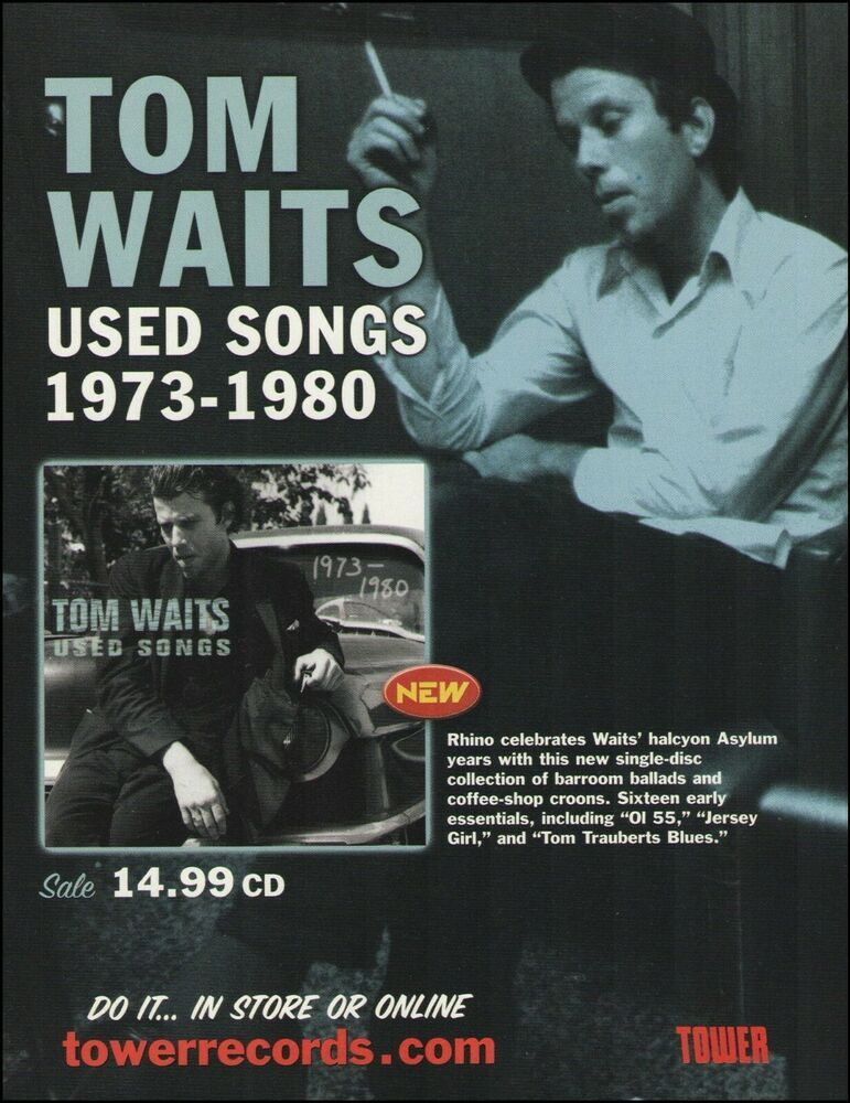 Tom Waits 2001 Used Songs Album Ad 8 X 11 Advertisement Print In 2020 Album Songs Songs Album