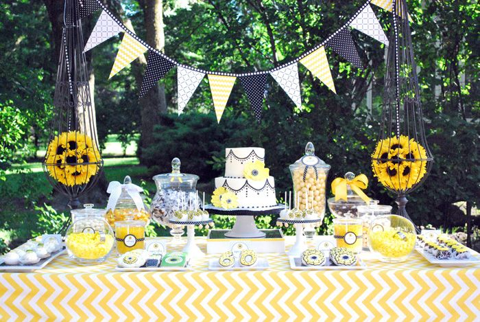 oh! a sunflower soiree for mom's 60th?? (@Debbie Barber- how old are you going to be this year??)