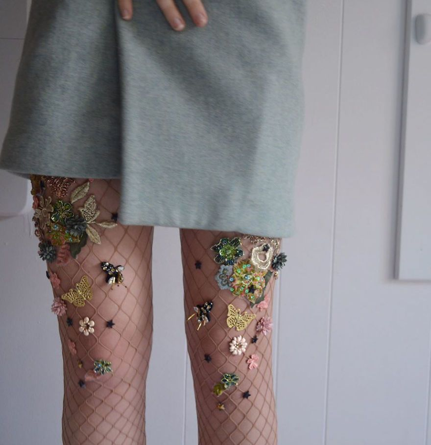 22cd461a7747a Embellished Fishnet Tights Are Here And It Will Make You Feel Like A  Mermaid Caught In A Net