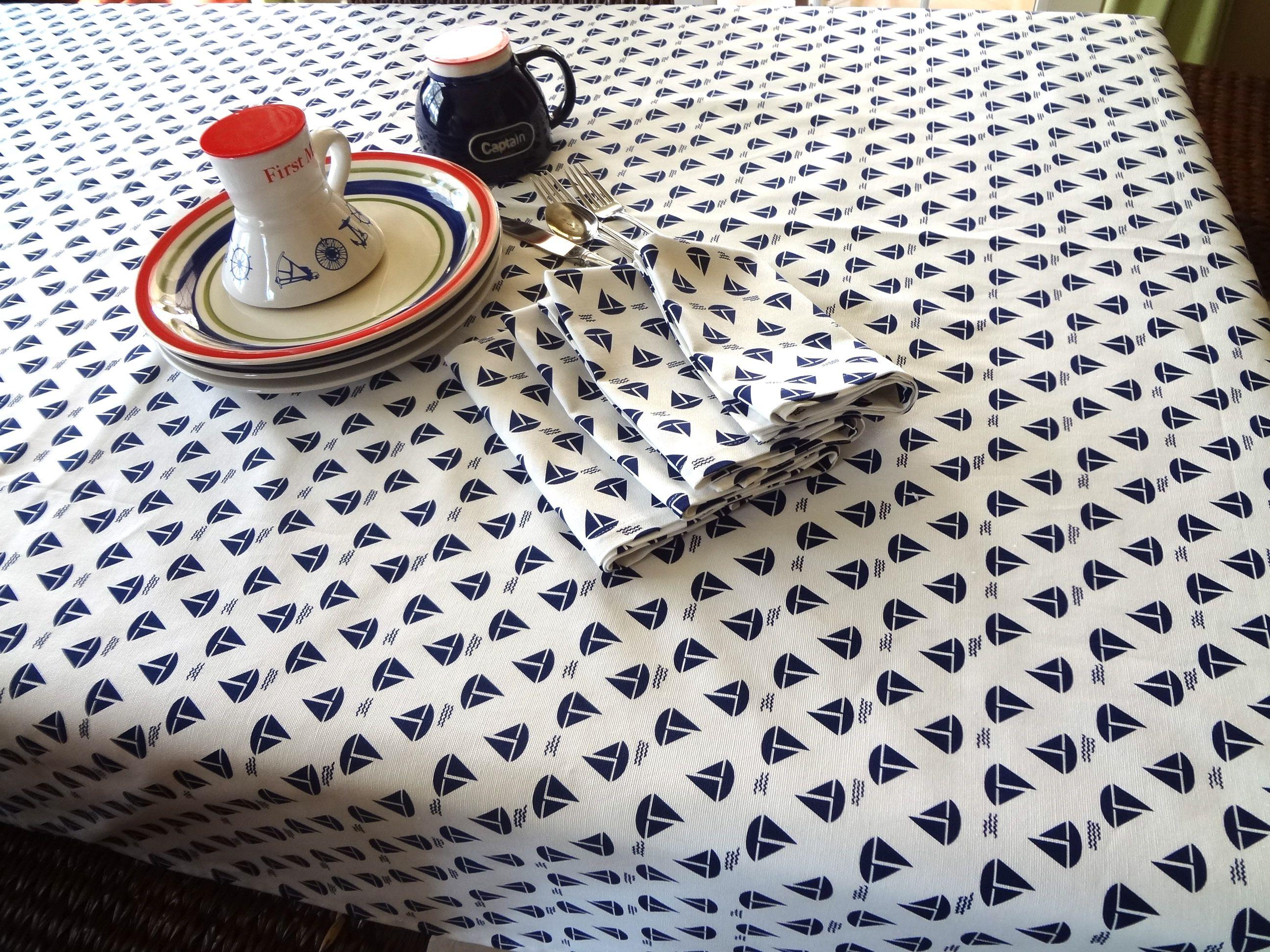 Nautical Tablecloth Www.modelshipsemporium.com
