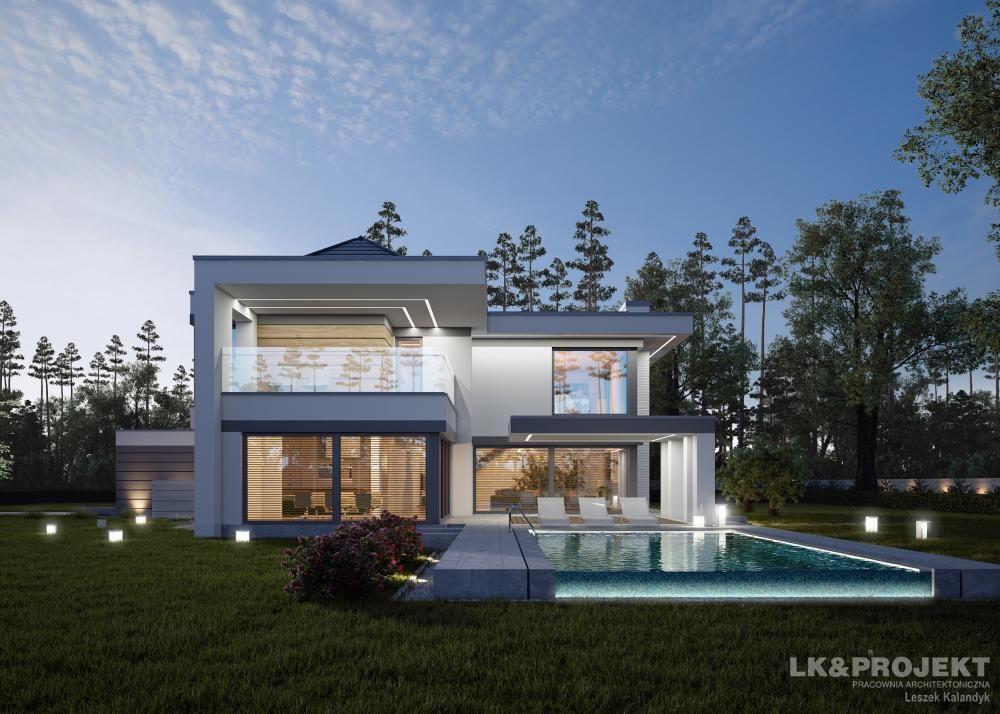 Проекты домов с бассейном и гаражом на две машины